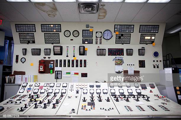These are some of the controls in the 1950'sera control room at the Salem Harbor Power Station which Footprint Power is turning from a coal and...