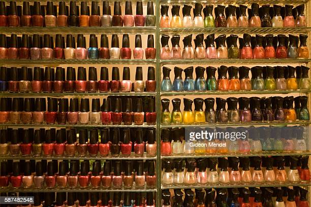 These are some of the huge variety of different shades and colours of nair varnish that are available to customers using a popular massage pedicure...