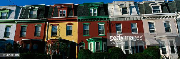 These are typical urban style row houses