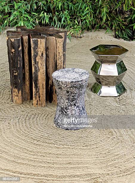 These garden stools made from natural hardwood and ceramic can be used as occasional tables and seating indooors and out They are part of a...