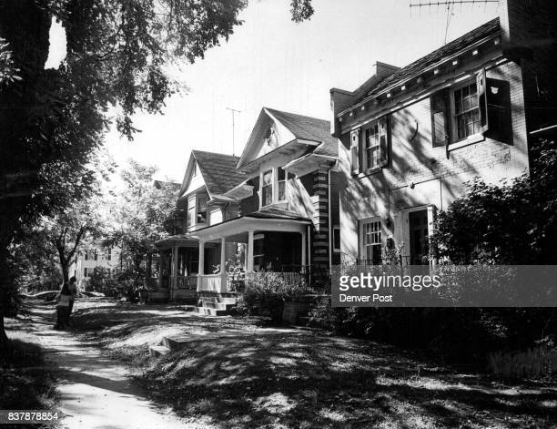 These houses in 800 block of Lafayette only two blocks from $40000 homes were bought by speculators Students have moved in until sale Credit Denver...