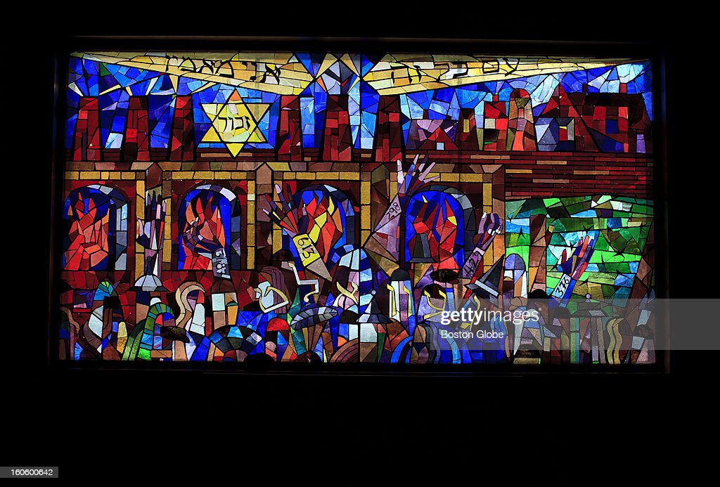 These incredible stained glass windows are potentially for sale, either to the new owner of the building or a third party. Ed Gurwitch, a longtime member of Temple Beth El in Quincy, Mass. is the man working to have his synagogue's stained glass windows, Biblical texts, and other art works appraised and offered for sale with all proceeds to go to a charitable endowment. Soon the building will be sold and members are desperate to be sure such holy items are provided for.
