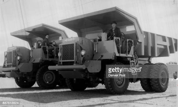 These mammoth shovel trucks two of four ***** specially for the bureau of mines by a Kansas City firm are 12 feet wide four feet wider than the legal...
