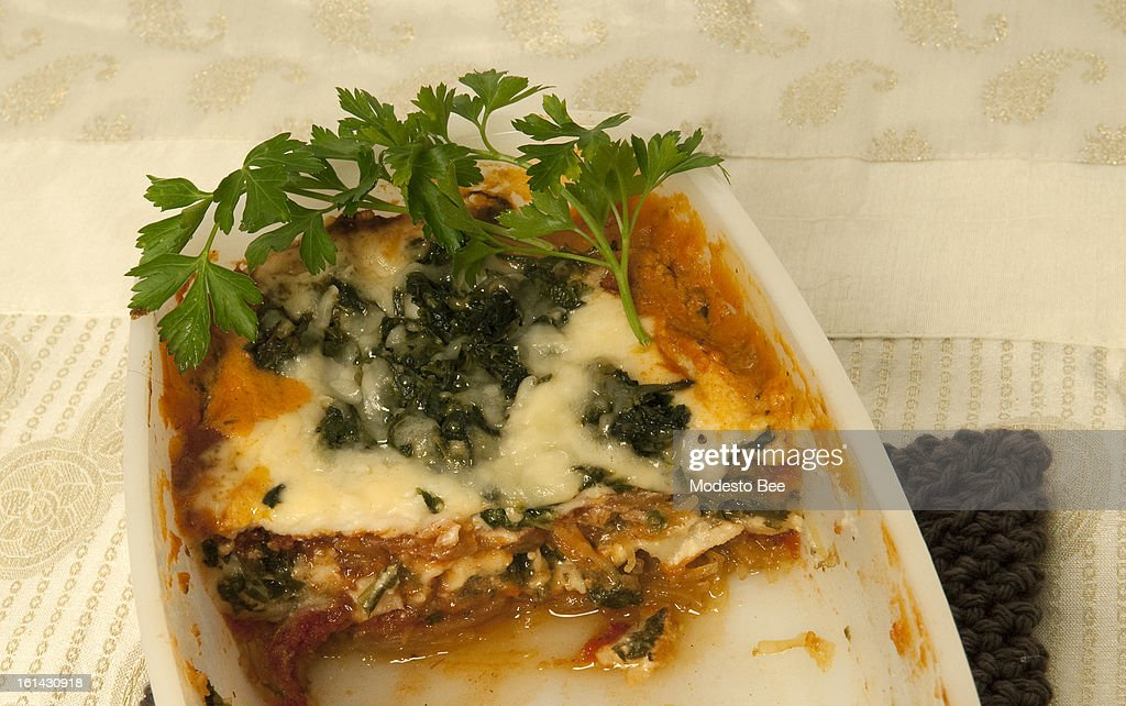 These ready-made dishes tucked safely away in the freezer can become lifesavers during the weekday crunch and when hosting unexpected overnight guests. Pictured, Spaghetti squash lasagna.