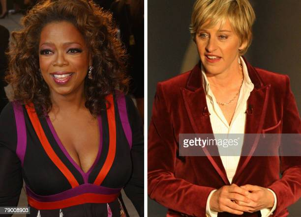 These recent file photos show Gay dogloving US comedienne Ellen DeGeneres who has dethroned black chatshow icon and new political activist Oprah...