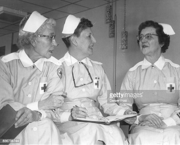 These three women will supervise Red Cross ray Lady activities at new Lutheran Hospital and Medical Center They are Mrs A R Moberley 4260 Marshall St...