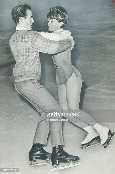These Two are Dance Favorites Favored to win the 1967 ice dance championship of Canada are Joni Graham and Don Phillips of Vancouver They were ahead...