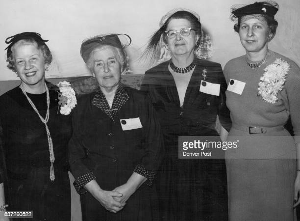 These women participated in the Colorado Soroptimist meeting here Sunday From left are Miss Myrta Hales of Ogden Utah regional governor Mrs Margaret...