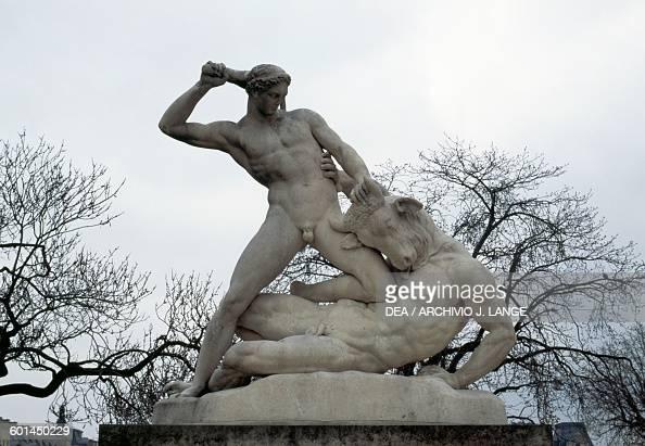 Theseus and the Minotaur statue by Etienne Jules Ramey Tuileries Garden Paris IledeFrance France