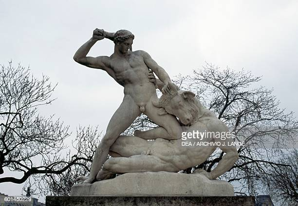 Theseus and the Minotaur statue by Etienne Jules Ramey Tuileries Garden Paris IledeFrance France