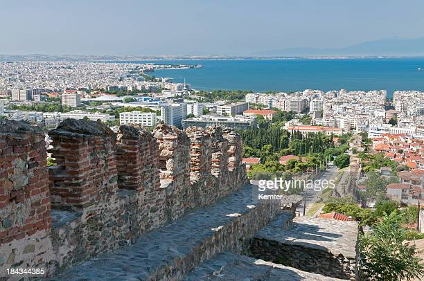 Thessalonika with old city wall