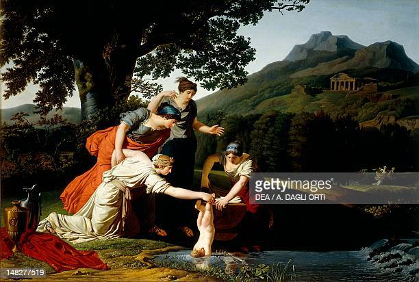 Thetis dipping Achilles into the Styx by Antoine Borel Rogat Parma Galleria Nazionale Palazzo Della Pilotta