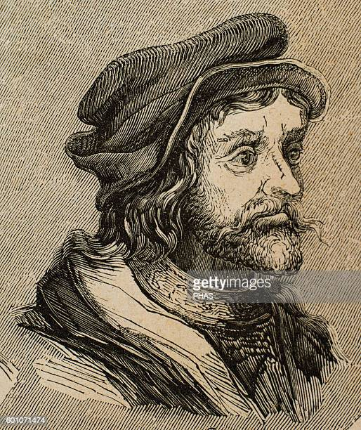 Theudigisel King of the Visigoths in Hispania and Septimania Portrait Engraving