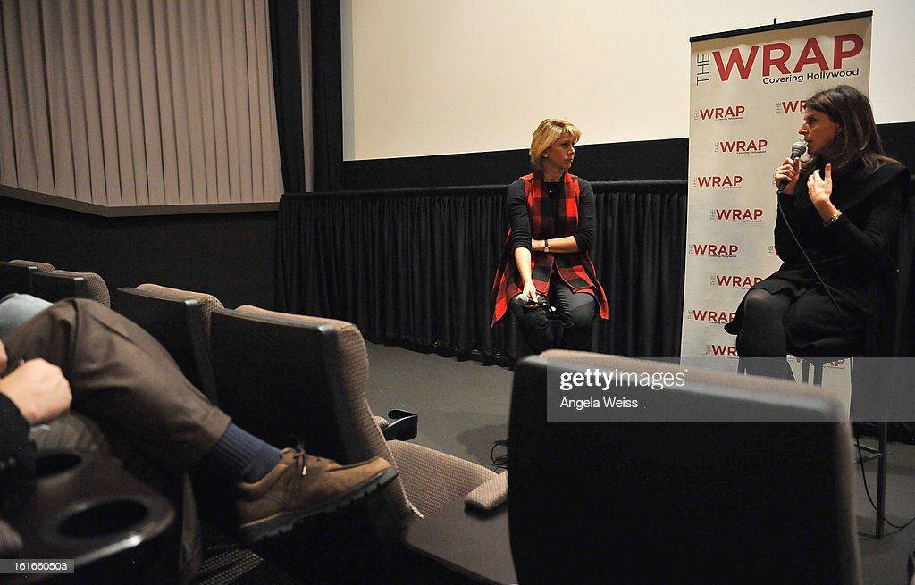 TheWrap's Sharon Waxman and producer Amy Ziering participate in a Q&A session following TheWrap's screening of 'The Invisible War' at Sunset Sundance Cinemas on February 13, 2013 in Los Angeles, California.