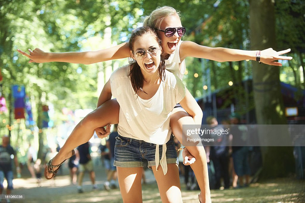 They always have a blast together! : Stock Photo