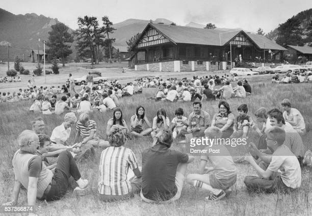 FAMILY '77 CONFERENCE They formed circles on the YMCA campgrounds at Estes Park to air their concerns and ideas about relationships Credit Denver Post