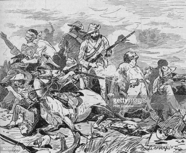 They Fought on Grimly The Shangani Patrol comprising 34 soldiers in the service of the British South Africa Company was ambushed and defeated by the...