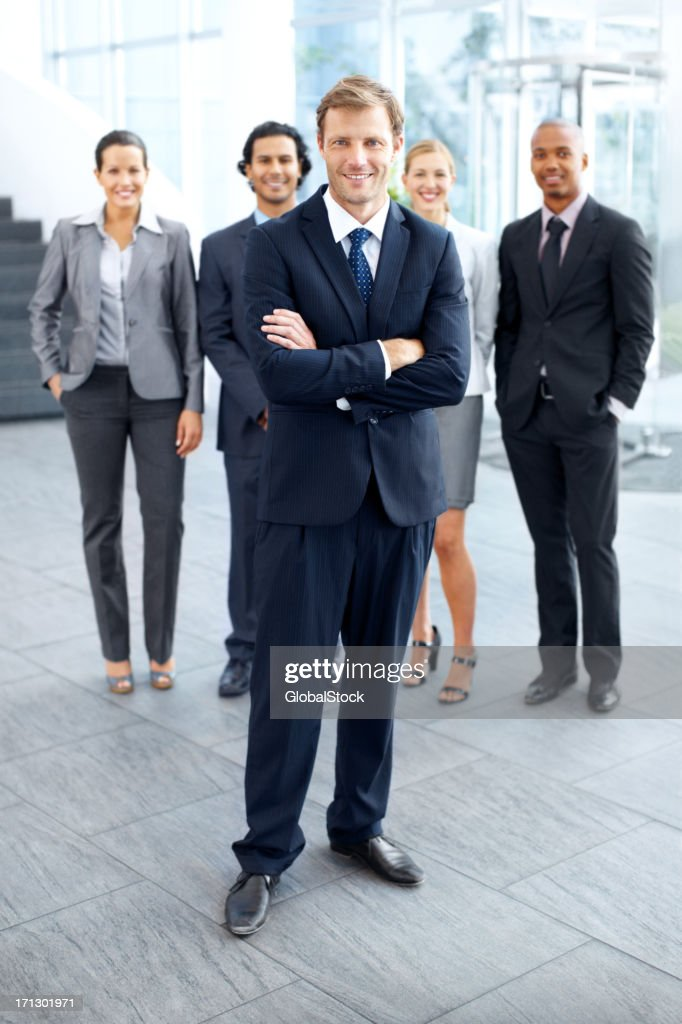 They look to him for leadership : Stock Photo