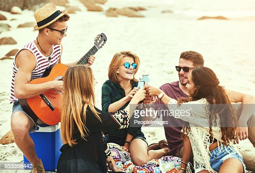 They love his music : Stock Photo