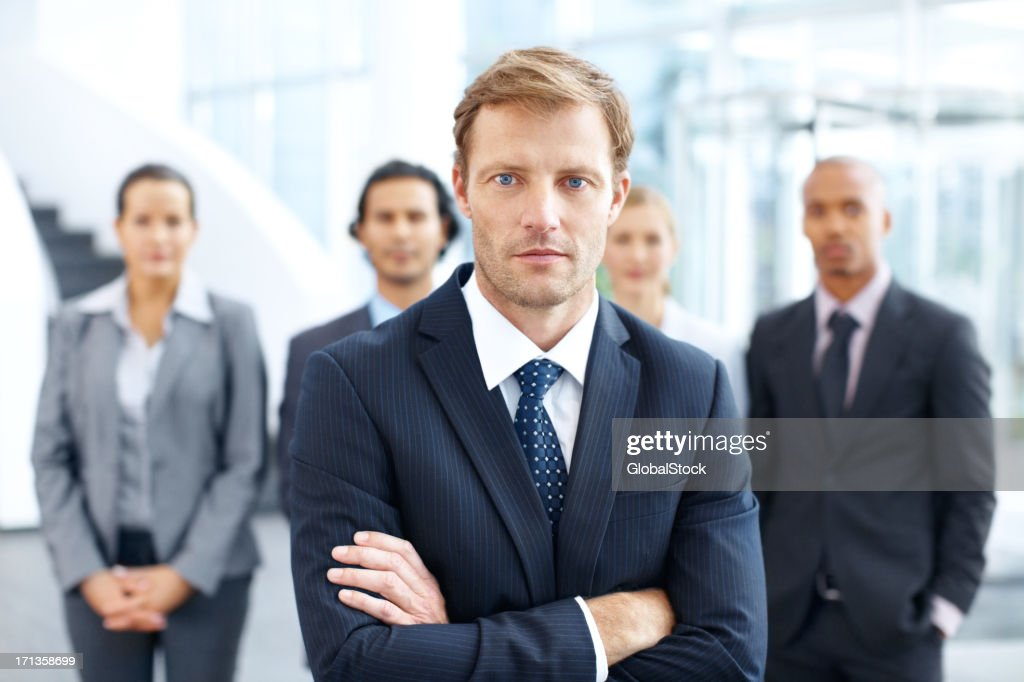 They rely on him for leadership : Stock Photo