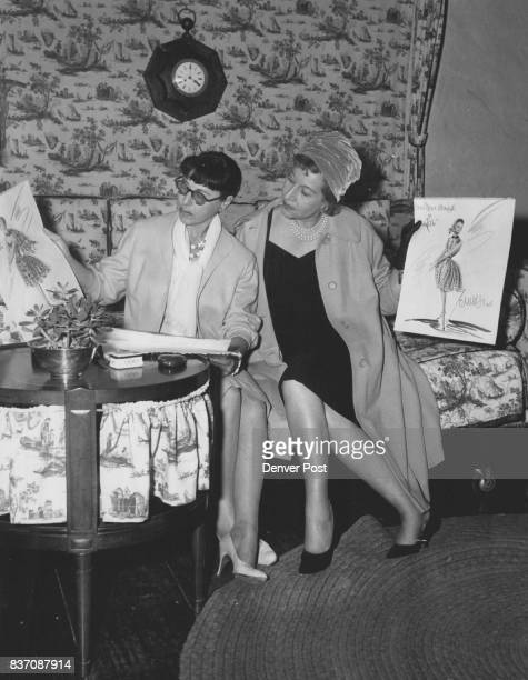 They Share a Talent and Interest Edith Head left the noted Hollywood fashion authority shows one of her dress sketches to Gretchen Weber Denver Post...