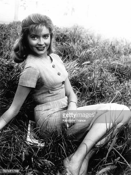 Theyoung French Actress Yvonne Monlaur On May 1958