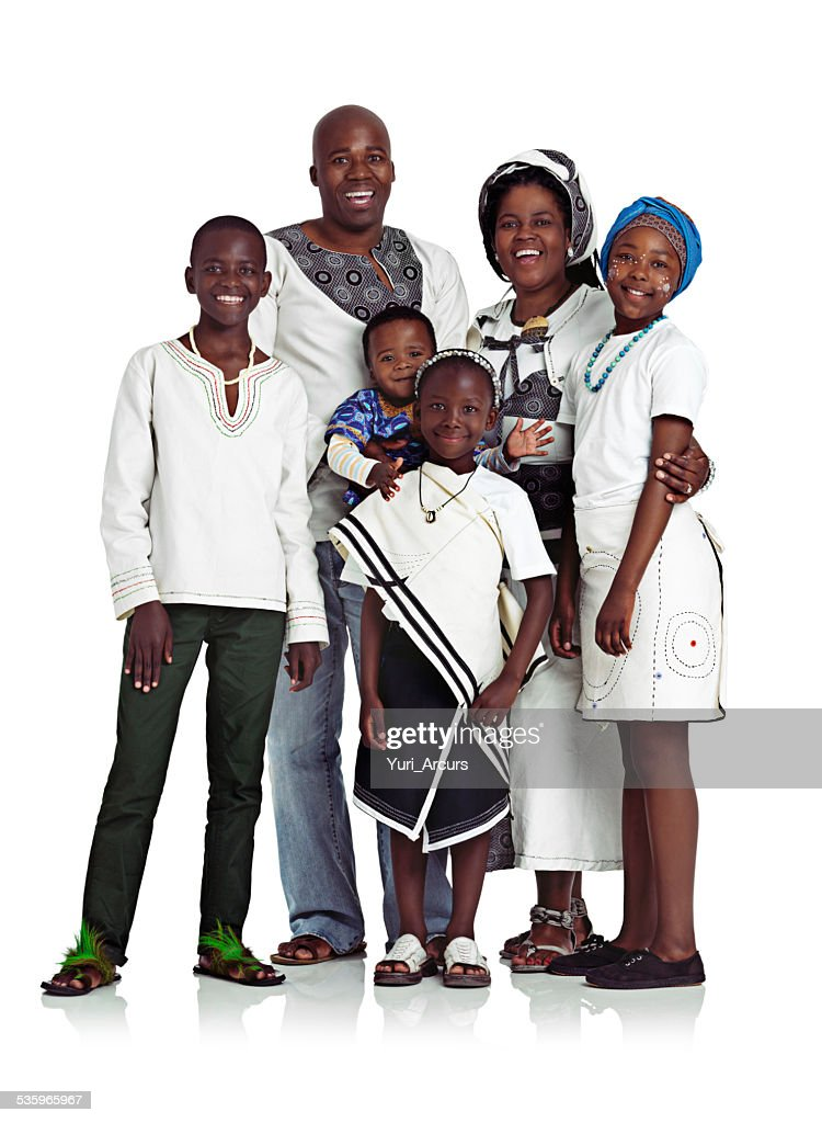 They're a happy family : Stock Photo