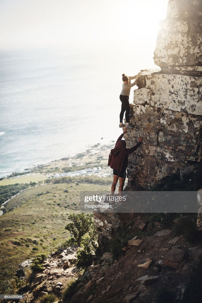 They're determined to get to the top : Stock Photo