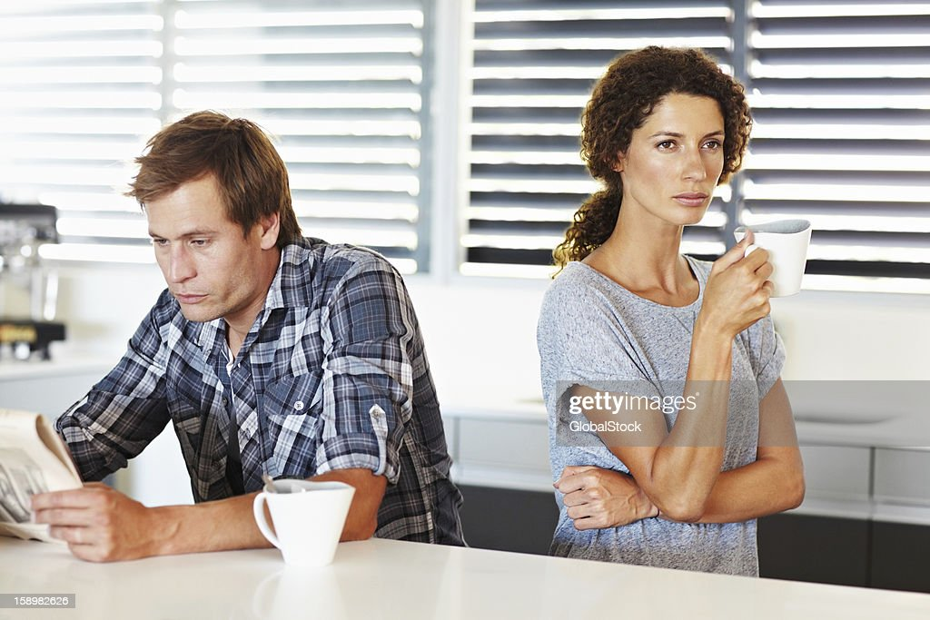 They're having communication problems : Stock Photo