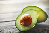 Shot of a sliced avocado on a table