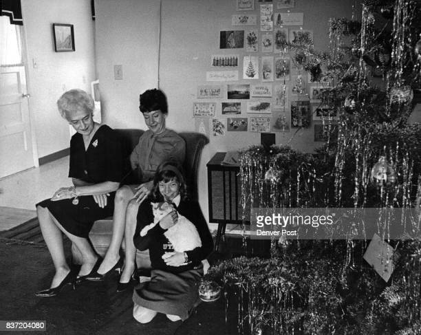 They're The Women In Bronco Coach's Life Mrs Mac Speedie sits with her husband's mother Mrs F H Fulton left and the Speedies daughter Rebecca in...