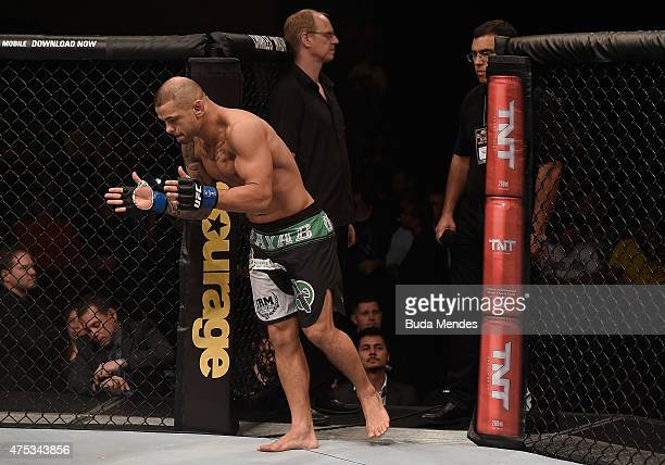 Thiago Alves of Brazil enters the arena prior to his welterweight UFC bout against Carlos Condit of the United States during the UFC Fight Night...