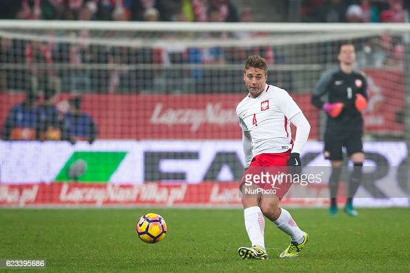 Thiago Cionek of Poland during the international friendly football match Poland vs Slovenia on November 14 2016 in Wroclaw