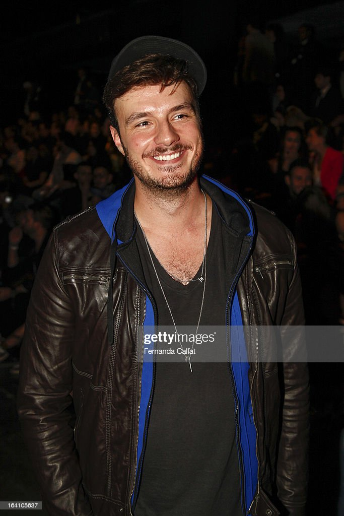 Thiago Marcon attends the Ellus show during Sao Paulo Fashion Week Summer 2013/2014 on March 19, 2013 in Sao Paulo, Brazil.