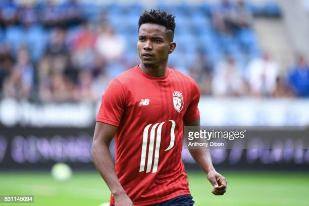 Thiago Mendes Ribeiro of Lille during the Ligue 1 match between Racing Club Strasbourg and Lille OSC at Stade de la Meinau on August 13 2017 in...