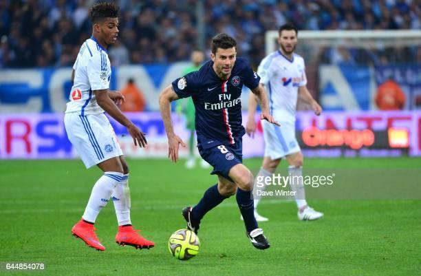 Thiago MOTTA / Mario LEMINA Marseille / Paris Saint Germain 31eme journee de Ligue 1 Photo Dave Winter / Icon Sport