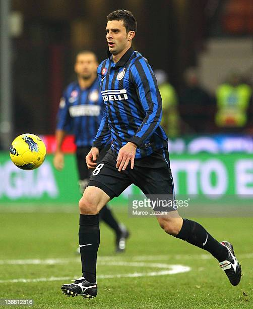 Thiago Motta of FC Internazionale Milano in action during the Serie A match between FC Internazionale Milano and Parma FC at Stadio Giuseppe Meazza...