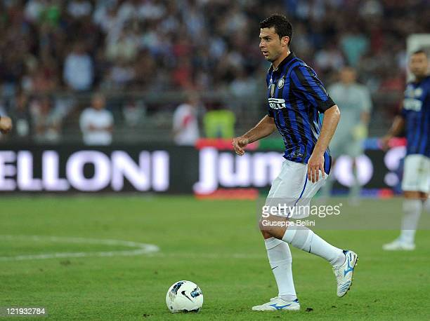 Thiago Motta of Inter in action during the match between FC Internazionale and Juventus FC during the TIM preseason tournament at Stadio San Nicola...