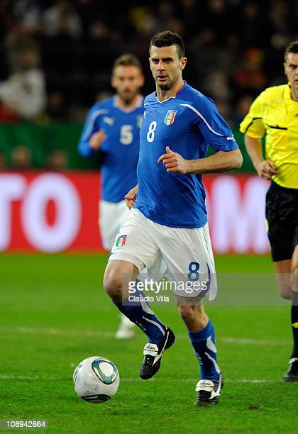 Thiago Motta of Italy during the International Friendly match between Germany and Italy on February 9 2011 in Dortmund Germany