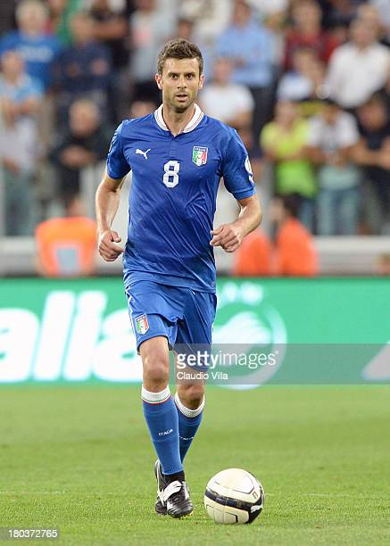 Thiago Motta of Italy in action during the FIFA 2014 World Cup Qualifier group B match between Italy and Czech Republic at Juventus Arena on...