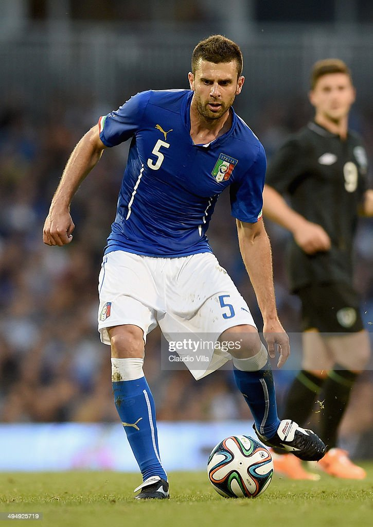 Thiago Motta of Italy in action during the International Friendly match between Italy and Ireland at Craven Cottage on May 30, 2014 in London, England.