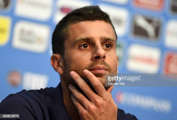 Thiago Motta of Italy looks on during press conference on June 18 2014 in Rio de Janeiro Brazil