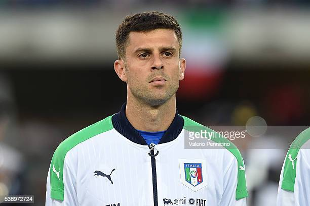Thiago Motta of Italy looks on during the international friendly match between Italy and Finland on June 6 2016 in Verona Italy