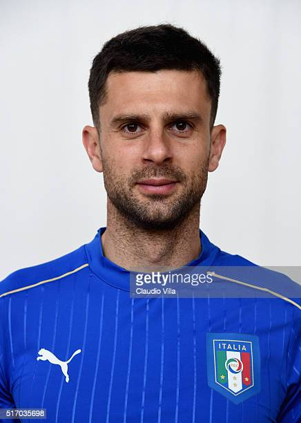 Thiago Motta of Italy poses during the official portrait session at Coverciano on March 23 2016 in Florence Italy
