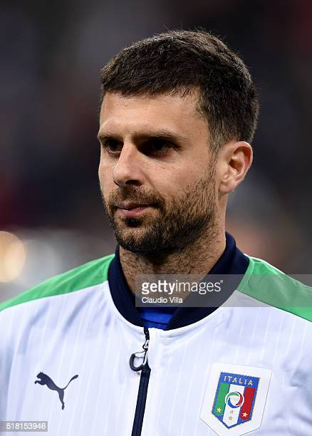 Thiago Motta of Italy poses prior to the international friendly match between Germany and Italy at Allianz Arena on March 29 2016 in Munich Germany