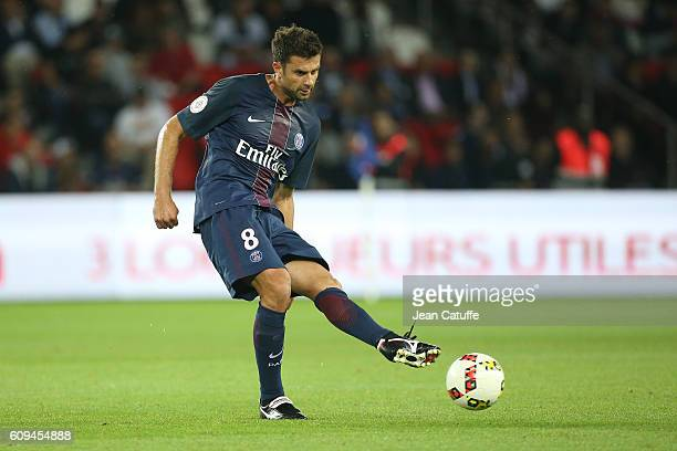 Thiago Motta of PSG in action during the French Ligue 1 football match between Paris SaintGermain and Dijon FCO at Parc des Princes on September 20...