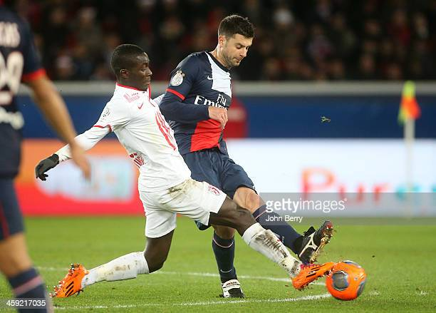 Thiago Motta of PSG in action during the french Ligue 1 match between Paris SaintGermain FC and Lille LOSC at the Parc des Princes stadium on...