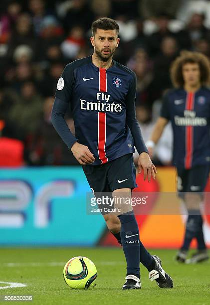 Thiago Motta of PSG in action during the French Ligue 1 match between Paris SaintGermain and SCO Angers at Parc des Princes stadium on January 23...