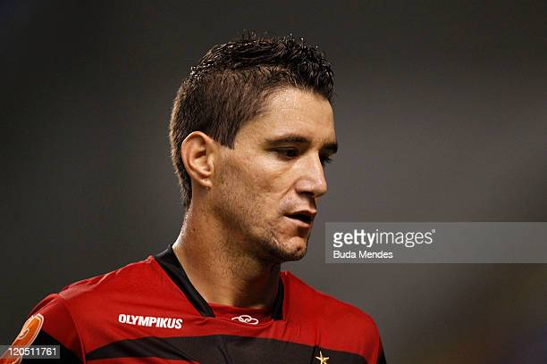 Thiago Neves of Flamengo during a match as part of Serie A 2011 at Engenhao stadium on August 06 2011 in Rio de Janeiro Brazil
