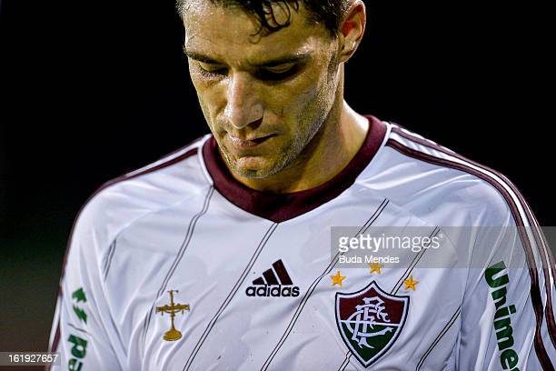 Thiago Neves of Fluminense during the match between Fluminense and Volta Redonda as part of Carioca Champonship 2013 at Raulino de Oliveira Stadium...